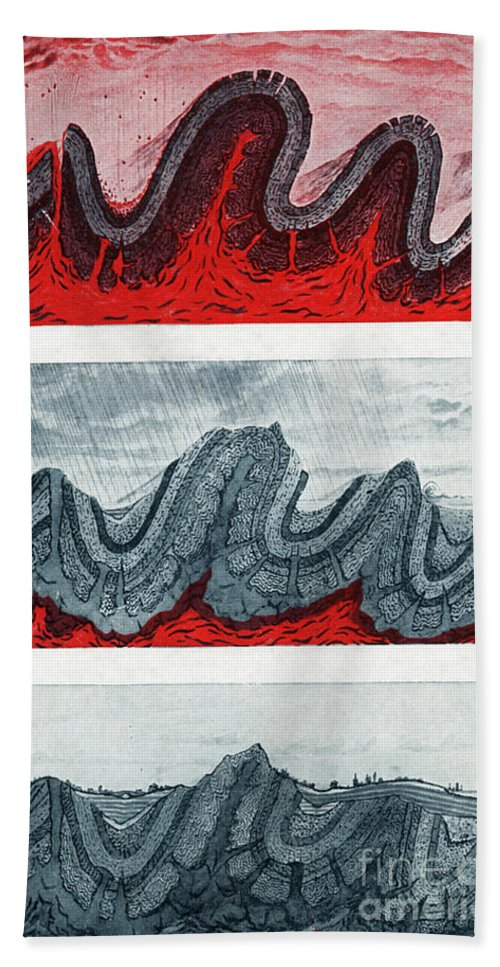 Geology Beach Towel featuring the photograph Geologic Crumpling by Science Source
