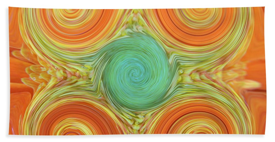 Gerbera Beach Towel featuring the photograph Gerbera Abstract by Chris Day
