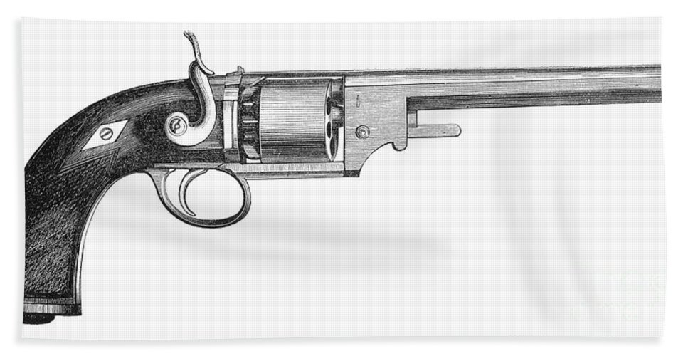 1856 Beach Towel featuring the photograph German Revolver, 1856 by Granger
