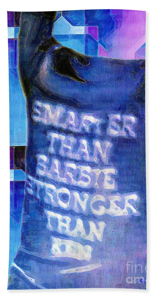 Feminism Beach Towel featuring the painting Get Off Our Backs by RC DeWinter