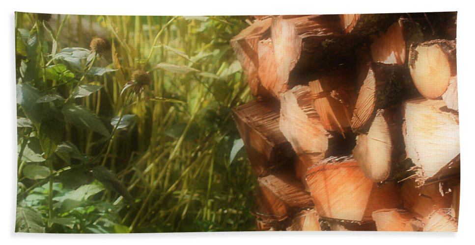 Country Beach Towel featuring the photograph Getting Ready For Winter by Smilin Eyes Treasures