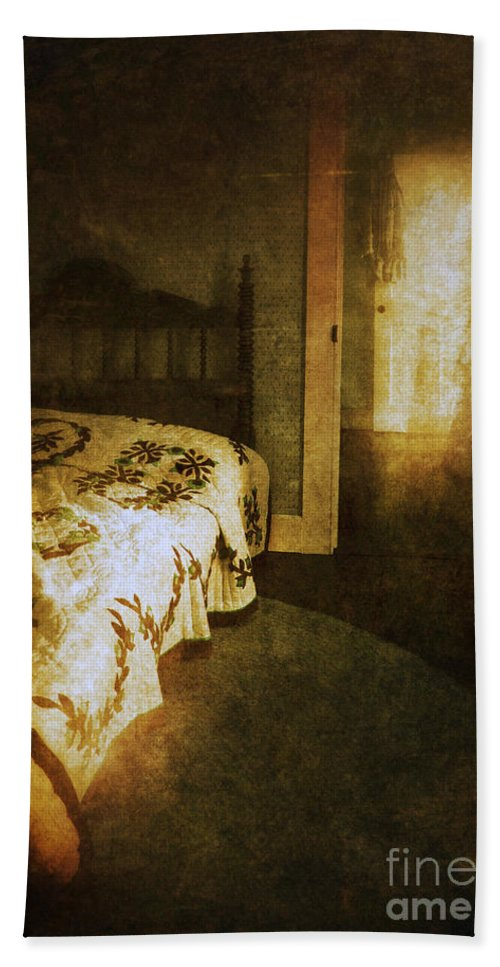Room Beach Towel featuring the photograph Ghostly Figure In Hallway by Jill Battaglia
