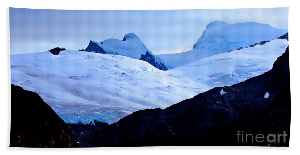 Glacier Beach Towel featuring the photograph Glacier Cracks by Tap On Photo