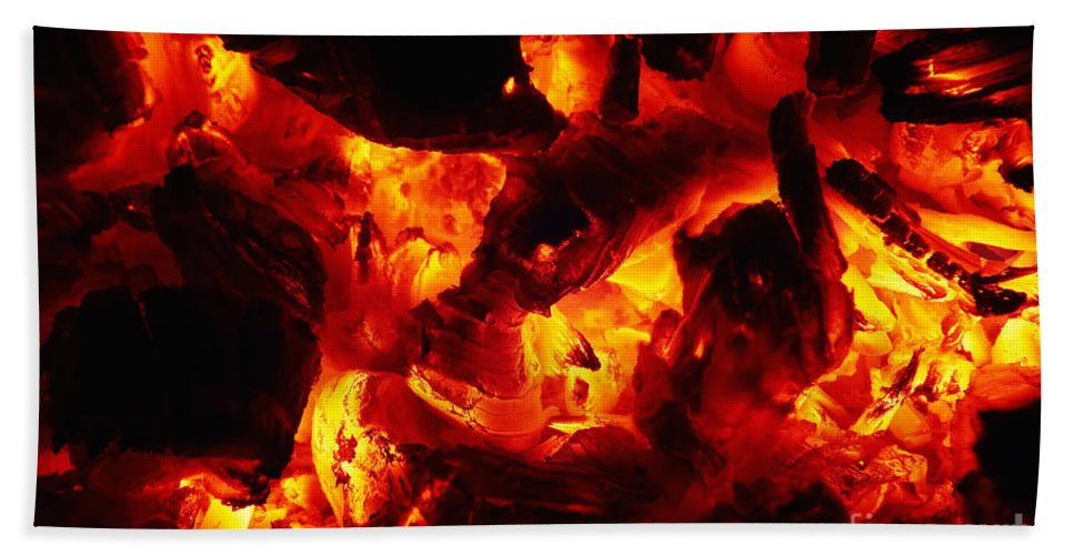 Glowing Beach Towel featuring the photograph Glowing Ashes by Michal Boubin