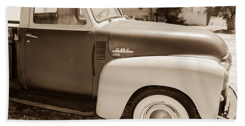 Antique Beach Towel featuring the photograph Gmc 100 by Shannon Harrington
