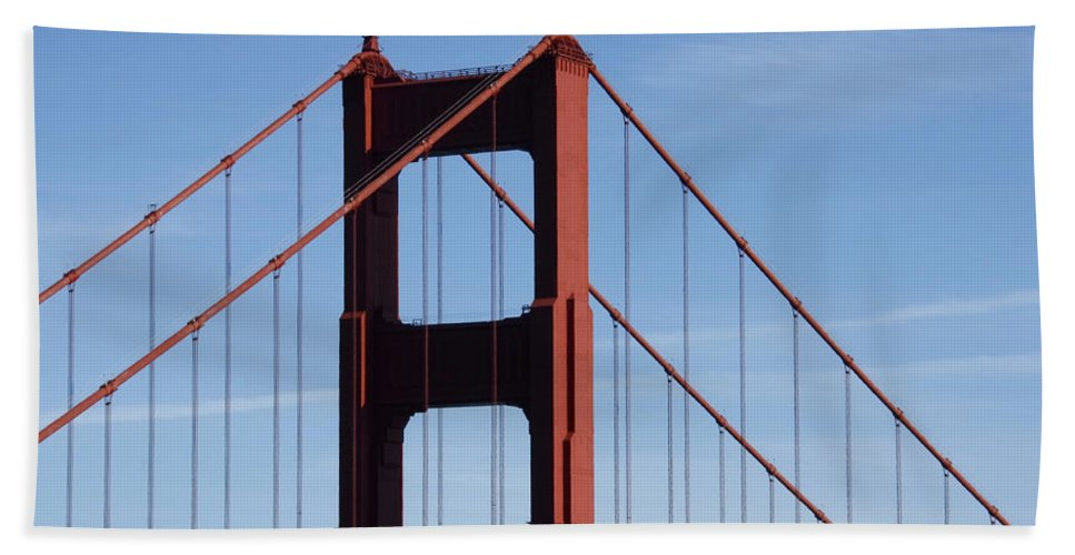 Golden Gate North Tower Beach Towel featuring the photograph Golden Gate North Tower by Wes and Dotty Weber