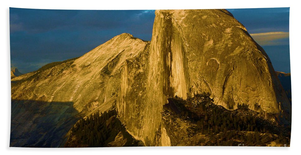 Half Dome Beach Towel featuring the photograph Golden Half Dome by Adam Jewell