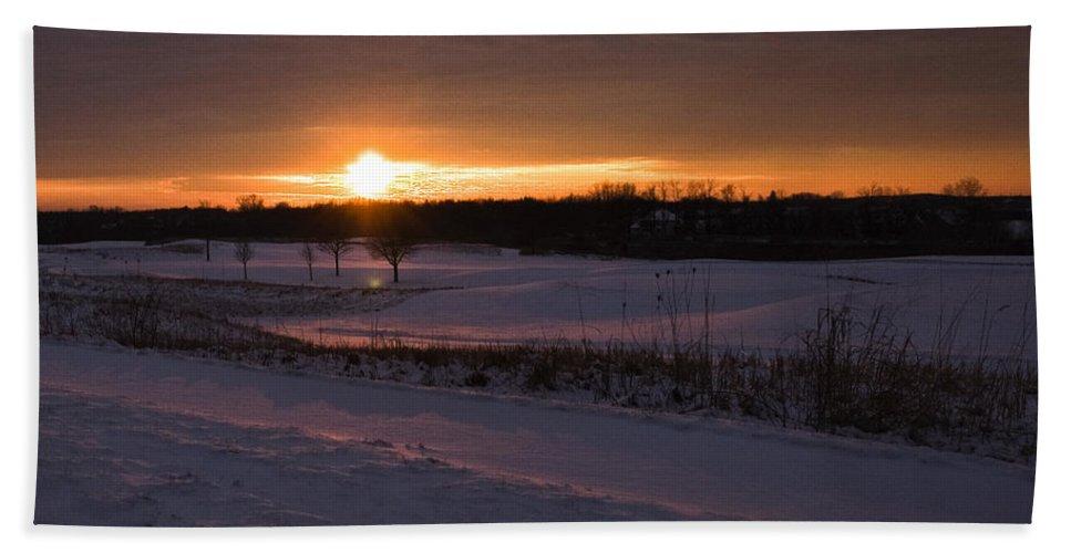 Usa Beach Towel featuring the photograph Golden Orange Winter Sunset Over The Golf by LeeAnn McLaneGoetz McLaneGoetzStudioLLCcom