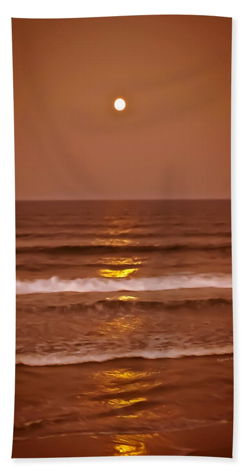 Ocean Beach Towel featuring the photograph Golden Pathway To The Shore by DigiArt Diaries by Vicky B Fuller