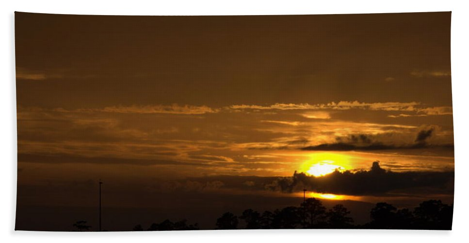 Landscape Beach Towel featuring the photograph Golden Sunset by Anthony Walker Sr