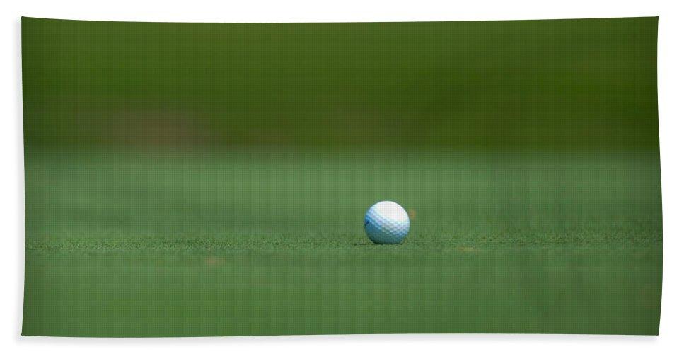 Golf Beach Towel featuring the photograph Golf Ball by Sean Wray