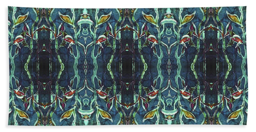 Blues Beach Towel featuring the painting Graceleavz by Sue Duda