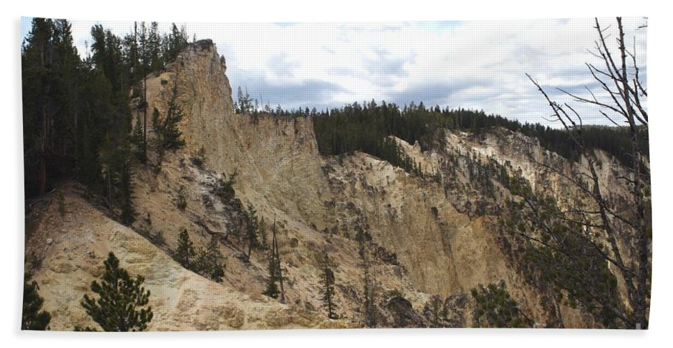 Grand Canyon Beach Towel featuring the photograph Grand Canyon Cliff In Yellowstone by Living Color Photography Lorraine Lynch