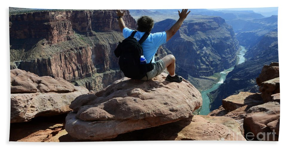 Grand Canyon Beach Towel featuring the photograph Grand Canyon Feeling All Right by Bob Christopher