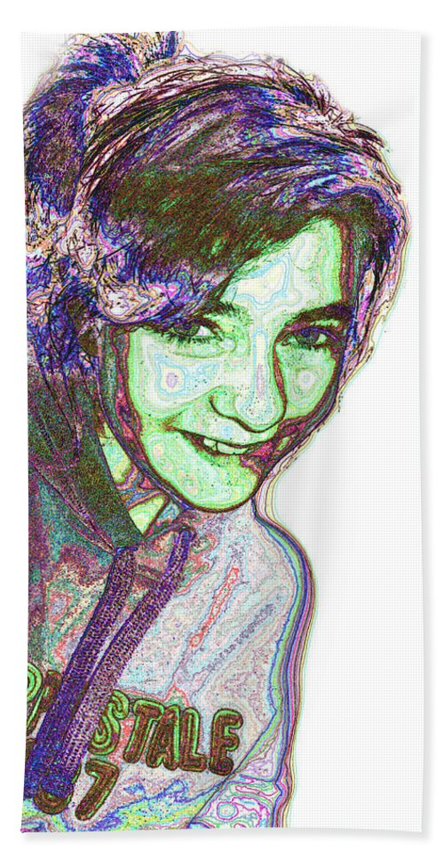 People Beach Towel featuring the digital art Grand Daughter I by Debbie Portwood