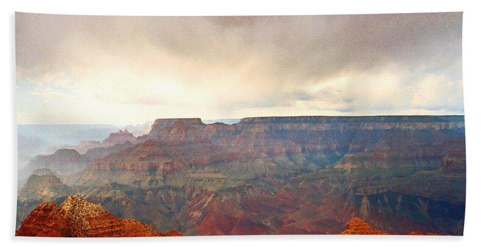 Grand Canyon Beach Towel featuring the photograph Grand Grand Canyon by Lizi Beard-Ward