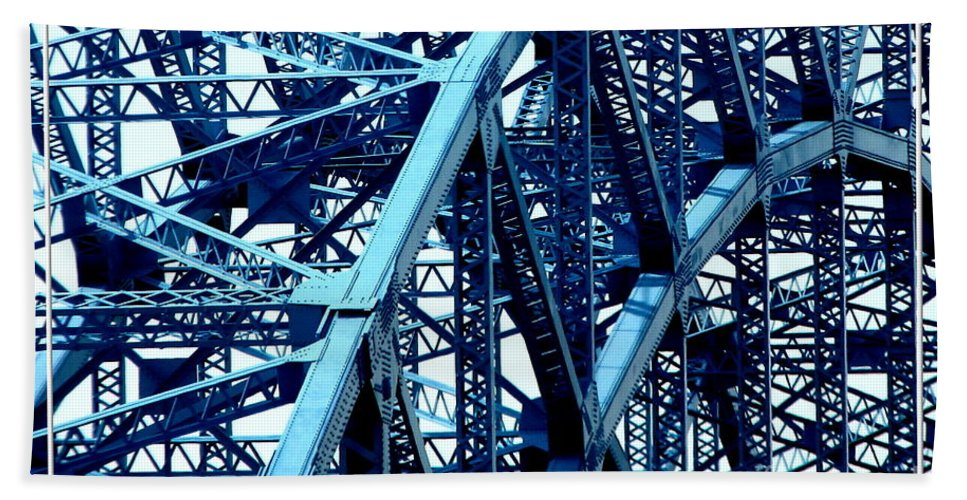 Grand Island Beach Towel featuring the photograph Grand Island Bridge by Rose Santuci-Sofranko