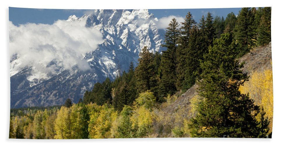 Sandra Bronstein Beach Towel featuring the photograph Grand Teton by Sandra Bronstein