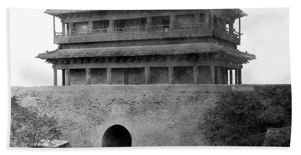 China Beach Towel featuring the photograph Great Wall Of China - Peking - C 1901 by International Images