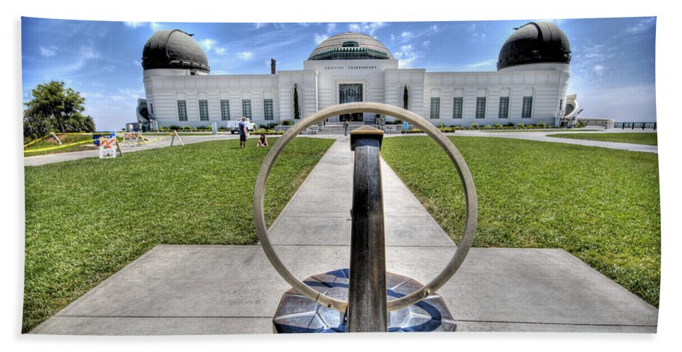 Los Angeles Beach Towel featuring the photograph Griffith Observatory 1 by Jessica Velasco