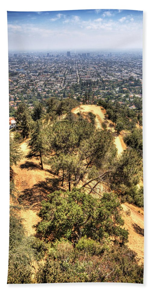 Los Angeles Beach Towel featuring the photograph Griffith Park by Jessica Velasco