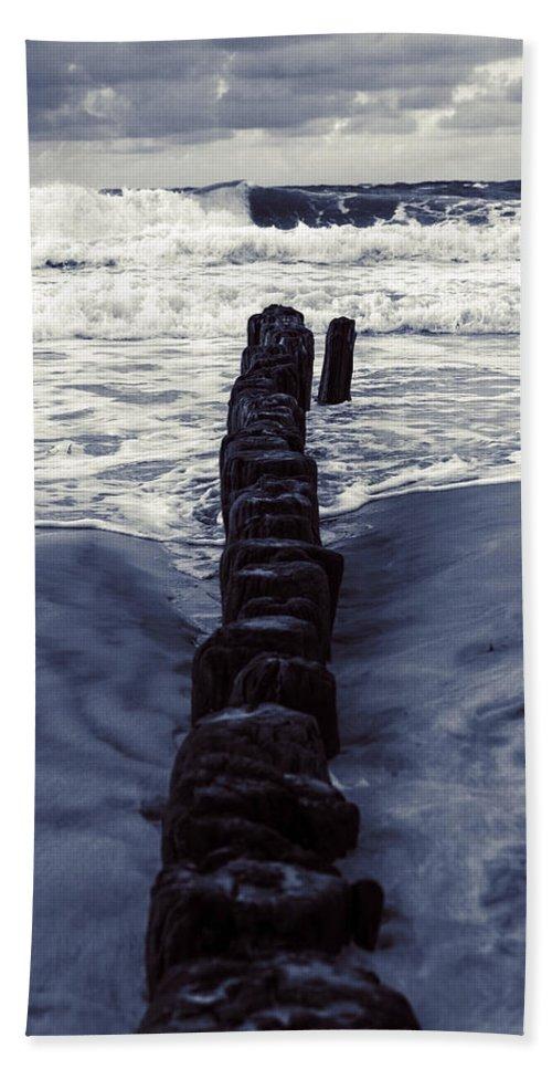 Groyne Beach Towel featuring the photograph Groyne by Joana Kruse