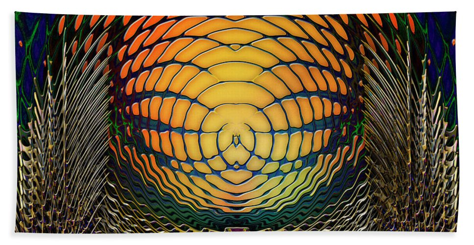 Light Beach Towel featuring the digital art Guardians Of The Light Within by Barbara Berney