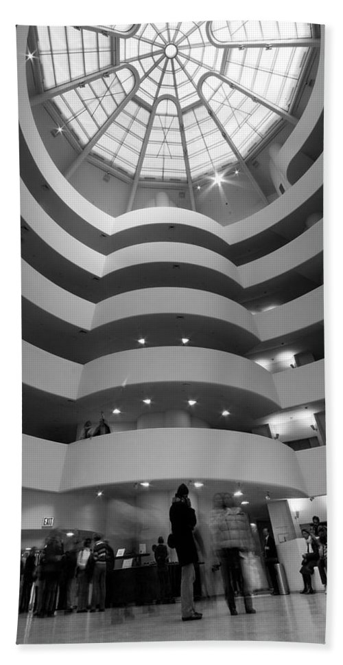 Abstract Beach Towel featuring the photograph Guggenheim 2 by Sean Wray