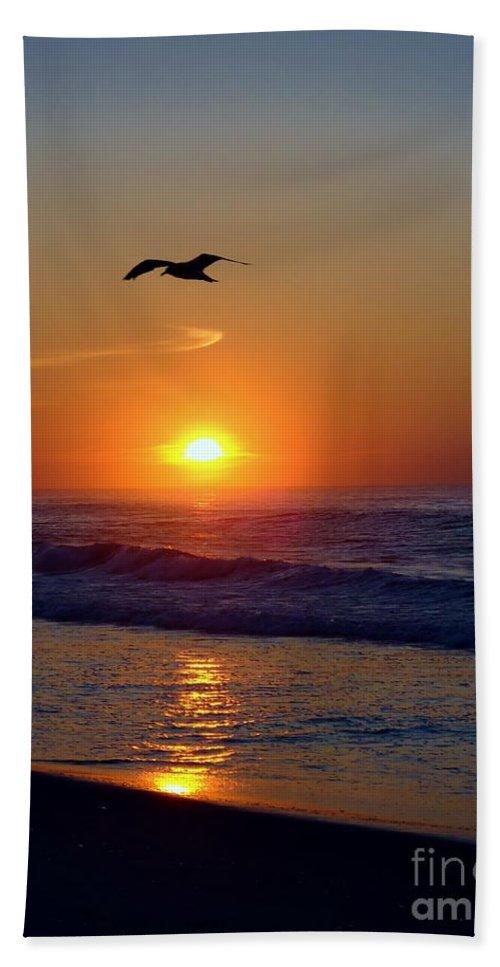 Gull Beach Towel featuring the photograph Gull Coast by Art Dingo