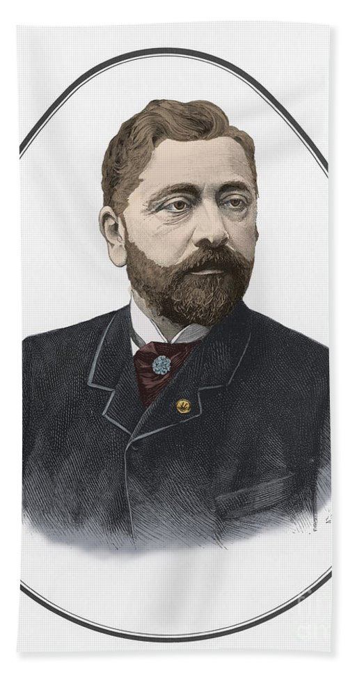 History Beach Towel featuring the photograph Gustave Eiffel, French Architect by Science Source