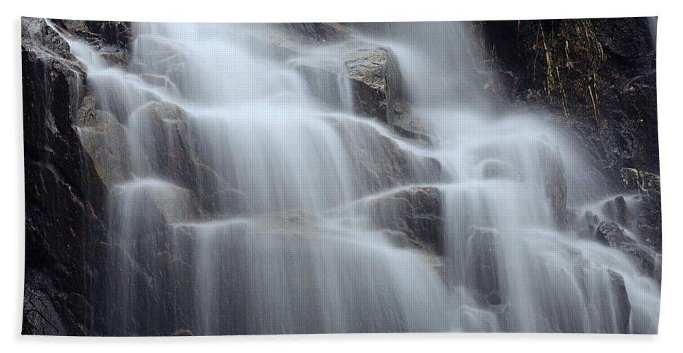 Acadia Photographs Beach Towel featuring the photograph Hadlock Falls II by Rick Berk