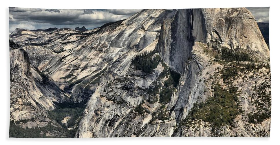 Half Dome Beach Towel featuring the photograph Half Dome by Adam Jewell