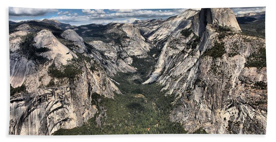 Half Dome Beach Towel featuring the photograph Half Dome Valley by Adam Jewell