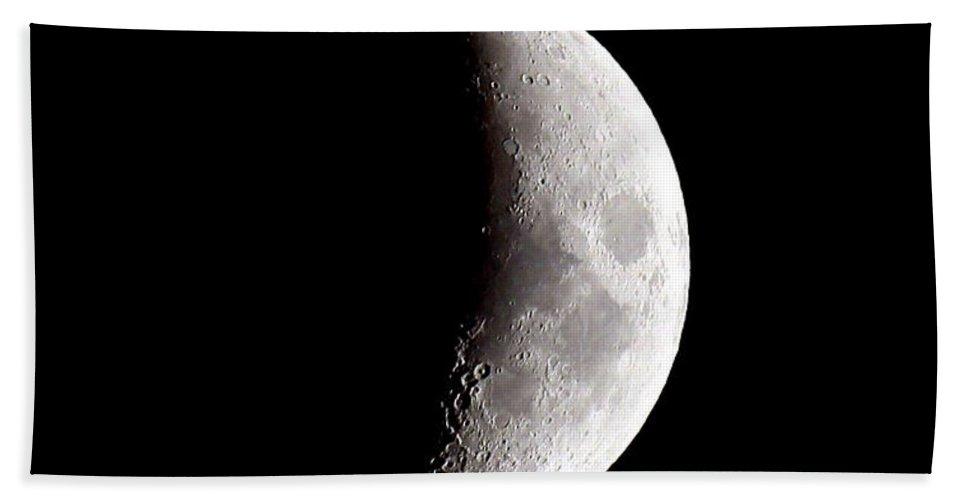 Half Moon Beach Towel featuring the photograph Half Moon by Athena Mckinzie
