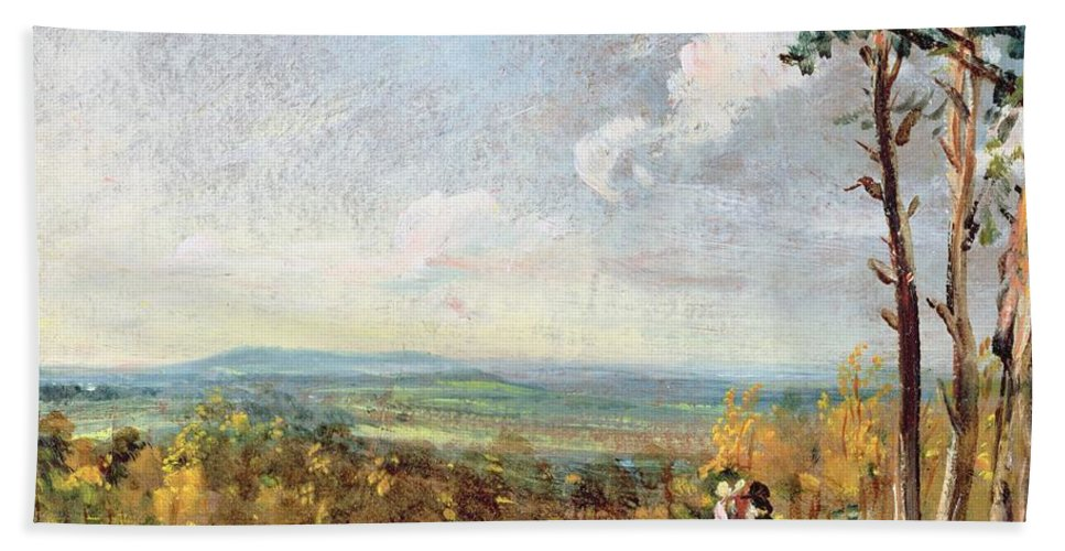 Xyc173642 Beach Towel featuring the photograph Hampstead Heath Looking Towards Harrow by John Constable