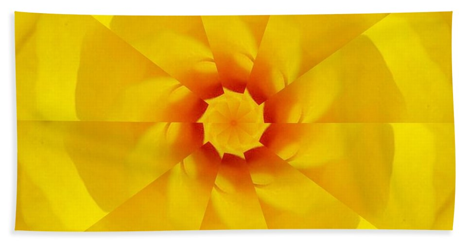 Flower Beach Towel featuring the digital art Happy by Rhonda Barrett