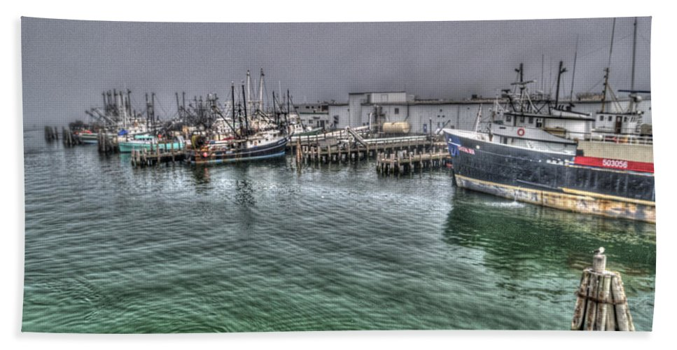 Photography Beach Towel featuring the photograph Harbor Dawn by Paul Wear