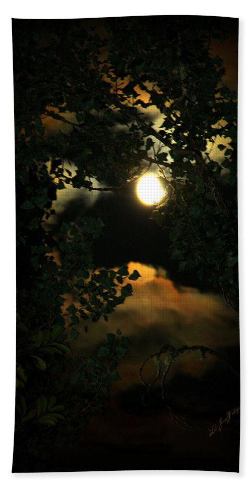 Moon Beach Towel featuring the photograph Haunting Moon by Jeanette C Landstrom