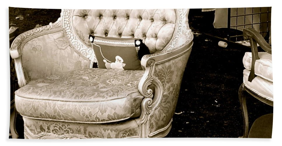 Baltimore Beach Towel featuring the photograph Have A Chair by Debbi Granruth
