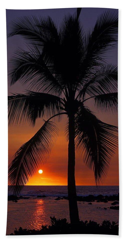 Sunset Beach Towel featuring the photograph Hawaiian Sunset by Sally Weigand