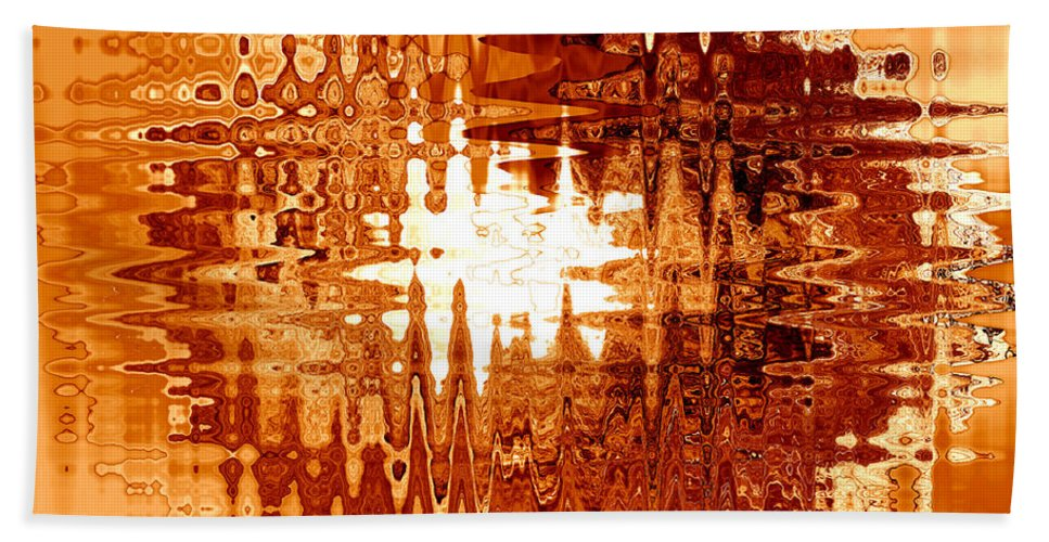 Abstract Beach Towel featuring the photograph Heat Wave - Abstract Art by Carol Groenen