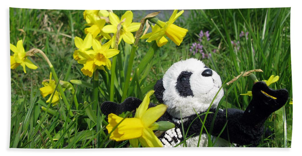Still Life Beach Towel featuring the photograph Hello Spring. Ginny From Travelling Pandas Series. by Ausra Huntington nee Paulauskaite