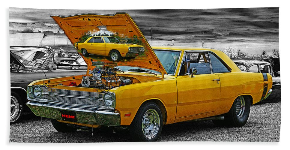 Cars Beach Towel featuring the photograph Hi-powered Dodge Abstract by Randy Harris