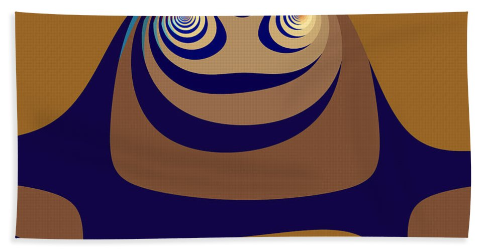 Fractal Beach Towel featuring the digital art High State by Mark Greenberg