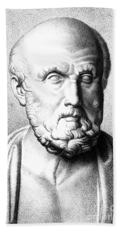 History Beach Towel featuring the photograph Hippocrates, Greek Physician, Father by Science Source