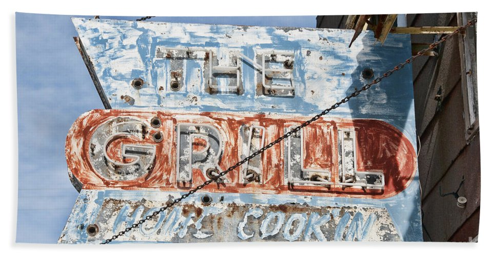 Sign Beach Towel featuring the photograph Home Cookin by David Arment