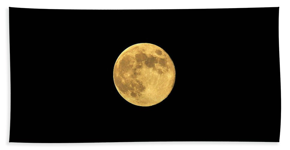 Moon Beach Towel featuring the photograph Honey Moon by Al Powell Photography USA