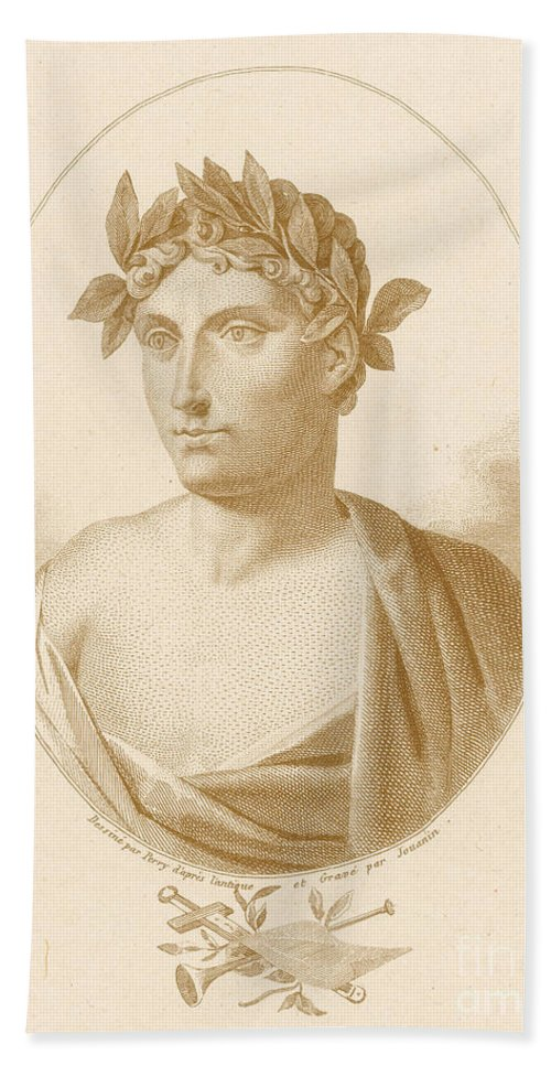 Quintus Horatius Flaccus Beach Towel featuring the photograph Horace, Roman Poet by Photo Researchers