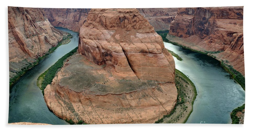 Area Beach Towel featuring the photograph Horseshoe Bend Colorado River - Arizona by Gary Whitton