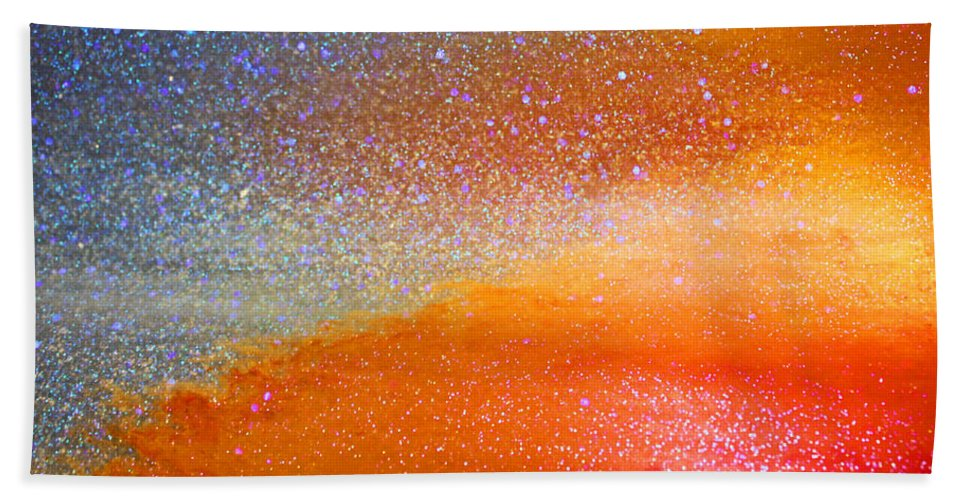 Abstract Beach Towel featuring the photograph Hot And Cold by Kristin Elmquist